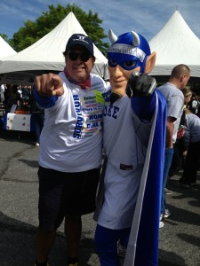 Tony with Blue Devil before the walk.